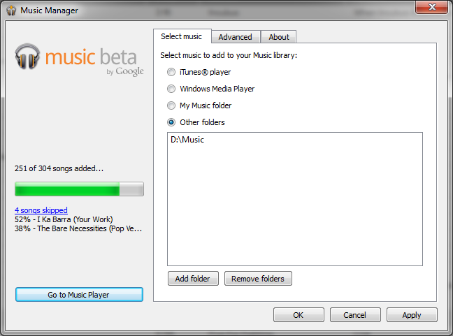 Google Music Beta Manager View